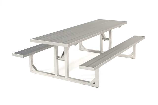 Picnic Table Square Tube Foot Long W Wheelchair Access - Wheelchair picnic table